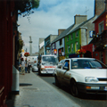 Ennis High St (Statue of Daniel O'Connell can be seen in the distance)